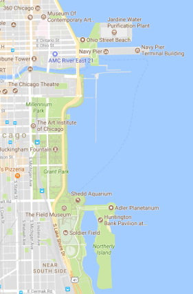 map of lake michigan side